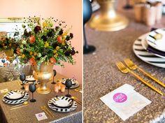 Mediterranean wedding inspiration // orange, fig, gold