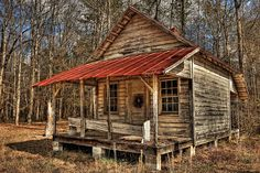 Rustic old cabin