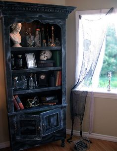 """So I went """"oooh I would love this"""" for all year decor - but it's on a Halloween blog. don't care."""