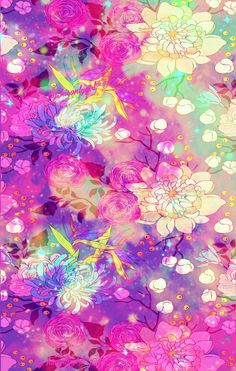 Floral galaxy wallpaper I created for CocoPPa