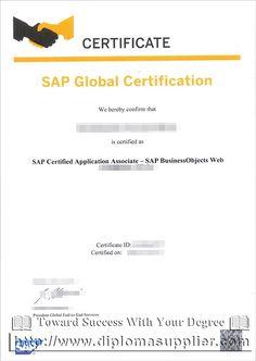 SAP Global Certification Diploma Buy Fake Certificate