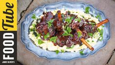 Get Spiced Slow-cooked Lamb Shanks Recipe from Food Network Slow Cooked Lamb Shanks, Braised Lamb Shanks, Lamb Recipes, Slow Cooker Recipes, Cooking Recipes, Slow Cooking, Cooking Videos, Chicken Recipes, Lamb Shank Recipe