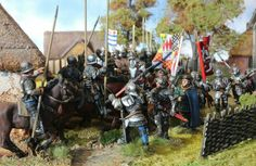 King Henry in trouble, he's the one in the blue mantel. Wars Of The Roses, Tin Man, Tabletop, Gnome Garden, Larp, Middle Ages, Warfare, Board Games, Renaissance
