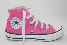 CONVERSE Sneakers Kids Girl SHOES Pink  Size USA 11 UK 10.5 EUR 28 17CM #Converse #HiTopTrainerBoots