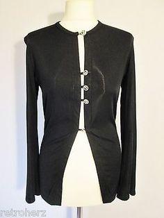 Sexy Blusa Top de aspecto mojado elástico Bolero Gótico Mistress STEAMPUNK XS Negro 8 10