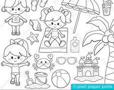 Cool Penguins Digital Stamps por pixelpaperprints en Etsy