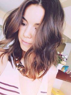 I  her hair