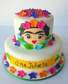 Frida Kahlo Cake Pastel Cakes by Yasmin Mexican Birthday, 30 Birthday Cake, Mexican Party, Cake Decorating Equipment, Cake Decorating Tools, Fondant Cakes, Cupcake Cakes, Frida Kahlo Birthday, Fiesta Theme Party