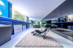 Step inside this hypermodern home by Crepain Binst Architecture nv and discover the TELETASK home automation system. Architectural Firm, Home Automation System, Well Thought Out, Step Inside, Antwerp, Corner Desk, Architects, Pearl, Strong