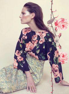 Meadow Sweet   Harpers Bazaar May 2013 Photographed by Elena Rendina inspiration