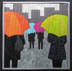 """""""Rainy Day People"""" by Terry Aske Art Quilts"""