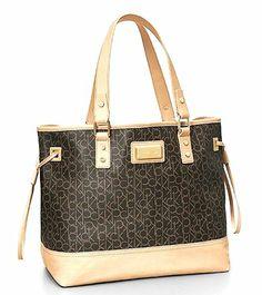 Calvin Klein Simone Maddox Logo Shopper Tote Shoulder Bag Handbag (Dark Brown) Calvin Klein http://www.amazon.com/dp/B00JDR92UU/ref=cm_sw_r_pi_dp_skUNtb139JJVFJDH