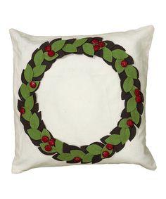 Another great find on #zulily! Wreath Throw Pillow #zulilyfinds