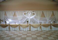 #wedding #esküvő #hochzeit #weddingbackground #esküvőiháttérdekoráció Background Decoration, Wedding Background, Valance Curtains, Chandelier, Ceiling Lights, Home Decor, Wedding, Candelabra, Decoration Home