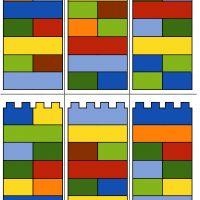 Lego Duplo - barevné věže - šablona Lego Duplo, Playroom, Bar Chart, Company Logo, Logos, Lego Duplo Table, Game Room Kids, Game Rooms, Logo