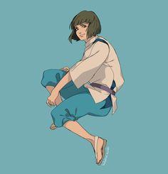 Spirited Away (千と千尋の神隠し) Studio Ghibli (Hayao Miyazaki) Anime Movie Studio Ghibli Art, Studio Ghibli Movies, Totoro, Chihiro Y Haku, Shingeki No Bahamut, Howls Moving Castle, Spirited Away, Animation, Hayao Miyazaki
