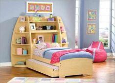 125 großartige Ideen zur Kinderzimmergestaltung - schrank hinter dem bett im kinder