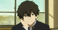 "Oreki Houtarou, in his natural, energy-conserving state. From the wonderful anime ""Hyouka."""