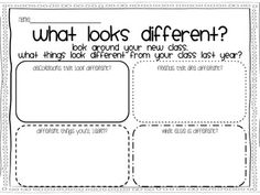 """What """"Looks"""" Different in __ Grade? {A writing Craftivity}"""