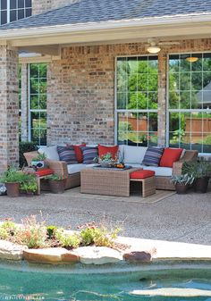 Back Porch Makeover with AE Outdoor | The Blissful Bee | Arizona Sectional