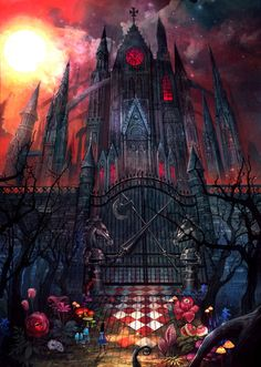 "Alice: Asylum ""House of Fire and Fury"" (Art Print) Alice In Wonderland Artwork, Dark Alice In Wonderland, Adventures In Wonderland, Alice Madness Returns, Fantasy Images, Dark Fantasy Art, Gato Alice, Alice Liddell, Pinturas Disney"