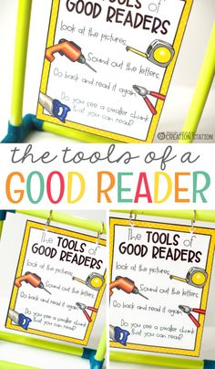 The joy and hardships of a kindergarten and first grade teacher are teaching learners to read. Reading is tough and so is teaching learners how to do it. Good readers learn strategies on how to read. Grab this free anchor chart for just that! With these simple, but effective steps, your students will be using these strategies like a champ when they learn to read! - Mrs. Jones' Creation Station #Reading #FreePrintables #TpT