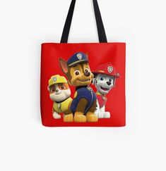 'Dog Paw Patrol ' Tote Bag by StefaniaAlina Large Bags, Small Bags, Cotton Tote Bags, Reusable Tote Bags, Dog Paws, Medium Bags, Paw Patrol, Are You The One, Costumes