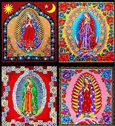 Tecidos católicos  http://www.catholichomeandgarden.com/Quilting/Our%20Lady%20of%20Guadalupe%20Floral%20Quilt%20Fabric%20Panels.jpg