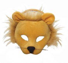 FANCY DRESS #US ANIMAL MASQUERADE EYE MASK Lion Half Face /& Headband