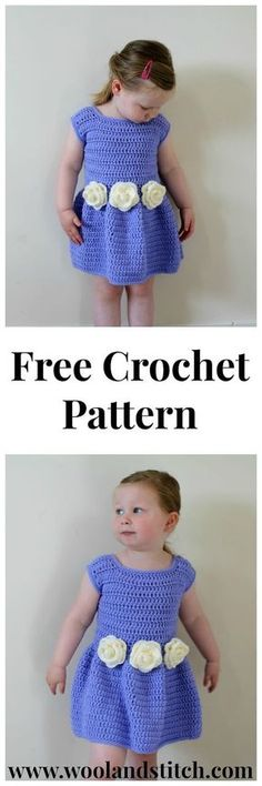 Flower Bridesmaid Dress - Free Crochet Pattern