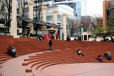 Pioneer Courthouse Square - Portland, Oregon   public space ...