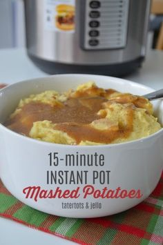 Instant Pot Mashed Potatoes in 15-minutes - creamy, fluffy and SO good!