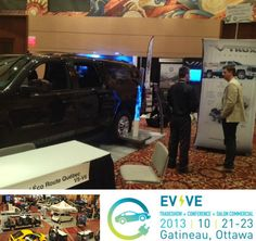 VIA Motors a big hit at 5th annual Electric Mobility Canada - EVVÉ2013 trade show in Quebec. EMC is the voice of Canada's electric vehicle industry. The theme for the conference is accelerating EV growth. For more info, visit http://www.viamotors.com and http://www.facebook.com/VIAMotors #electricmobilitycanada #viamotors #electricsuv #electricsportsutilityvehicles #ev #evve2013 #electricvehiclescanada