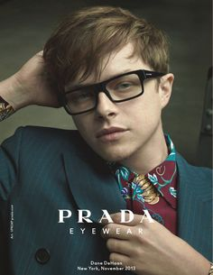 Dane de Haan Looks Dashing In Prada Glasses For The S/S 2014 Eyewear Campaign | Hottest News And Trends In Eyewear