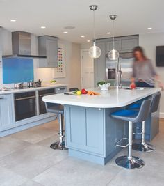 Polar Ice is a wonderful white quartz option ideal for worktops in kitchens or bathrooms with colourful cabinets from Granite Transformations Bathroom Worktops, Castle House, White Quartz, Work Tops, Granite, Flooring, Cabinet, Table, Furniture