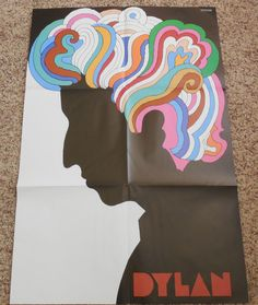 Bob Dylan Greatest Hits With Martin Glaser Poster Columbia PC 9463 Stereo #FolkRock