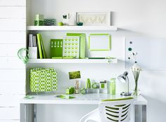 Bring the outdoors, indoors with a hint of green.