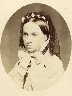 fanchon with veil - late 1860's