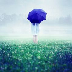 Talented French photographer Julie de Waroquier takes breathtaking pictures. Julie's photos remind dreams and the most unusual stories. Conceptual Photography, Artistic Photography, Nature Photography, Photography Ideas, Blue Umbrella, Under My Umbrella, Rain Umbrella, Boy Photo Shoot, Singing In The Rain