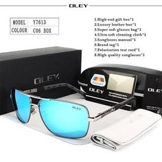 OLEY Brand Polarized Sunglasses Men New Fashion Eyes Protect C6 – fingla.com Unisex Fashion, New Fashion, Style Fashion, Fashion Sets, Polarized Sunglasses, Mens Sunglasses, Sunglasses Price, Luxury Sunglasses, Oakley Sunglasses