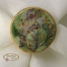 Ceramic BUTTON Handcrafted Antique Look by rachelcart, $11.50