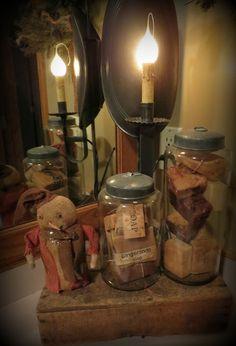 Prims...in Jars. Primitive LampsPrimitive BathroomsPrimitive ...