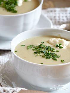 zupa krem ziemniaczana z pieczonym czosnkiem Cheeseburger Chowder, Ethnic Recipes, Food, Drink, Diet, Kitchens, Beverage, Essen, Meals