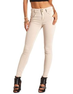 Refuge High Waist Colored Skinny Jean: Charlotte Russe