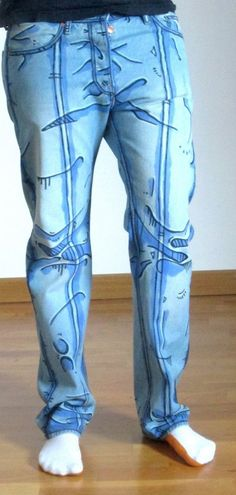 Cel shaded pants Borderlands style men pants by DejaNeufHeures