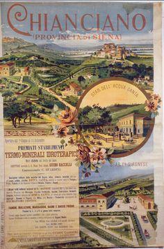 Locandina Stabilimento termale - Chianciano (Siena, Toscana) - 1895