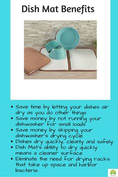 Benefits of Norwex dish mat. Save time, save money and safer.
