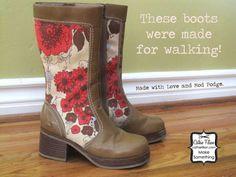 Overhaul: Mod Podge Boots Cathie Filian: Fall