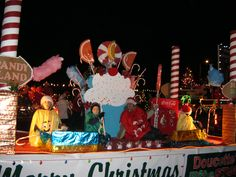 """Our """"Candy Land"""" Christmas Parade of Lights float"""