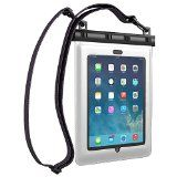 Ultraproof Waterproof Case for iPad Air and iPad 2 3 4 - [Black] Universal UltraBag Waterproof Pouch with Touch Responsive Front and Back Transparent Screen Protector Windows [One Year Warranty] Fits Any Version of Apple iPad Air 4 3 2 1 (A. Transparent Screen, Computer Sleeve, Ipad Mini 3, Pouch Bag, Ipad Air, Screen Protector, Smartphone, Apple Ipad, Retina Display